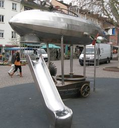 Top 10 Strange and Unusual Playgrounds - Steampunk in Oamaru Harbour, New Zealand