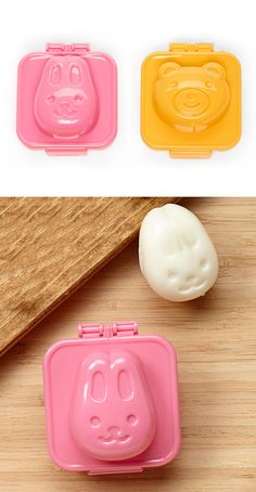 #urbaninfant  Adorable hard boiled egg molds! There are lots of places to buy them, but here is a pretty cheap set on eBay. http://www.ebay.com/itm/like/221294797400?lpid=82&chn=ps