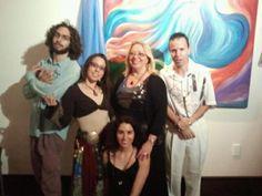 Nilia's Art Exhibit at Sawa Restaurant. Joogy Basna, Desi Love, Nilia Fajardo, Luis and Carla Cao. Desi Love, Event Pictures, Fajardo, Exhibit, Restaurant, Concert, Art, Art Background, Diner Restaurant