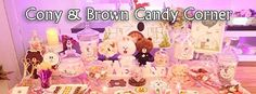 Line Cony & Brown Candy Corner | Line Cony & Brown糖果吧佈置