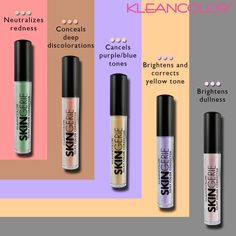 Have you tried the 5 shades of SKINgerie Silky Color Correctors (CC2588) yet??  These creamy and lightweight skin concern neutralizers give you a silky smooth and flawless base for makeup application or simply to hide a specific concern.  Choose your shade, dot, and blend to your best skin. #kleancolor #skingerie #colorcorrector #creamy #silky #lightweight #smooth #flawless #neutralize #conceal #cancelout #brighten #correct #makeup #cosmetics #beauty