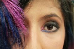color and haircut  color y corte  la helena yulieth mejia  fucsia y azul  make up