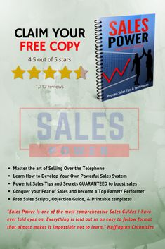 If you are new to Sales and/or looking to boost your sales performance, Sales power is a must. Written with Sales Love and over 20 years of hardcore closing experience. Sales power is by far one of the best Sales book ever written for all types of sales people, with more of a focus on inside sales people. Cold Calling Tips, Types Of Sales, Sales People, Sales Tips, 20 Years, The Secret, Writing, Learning, Books