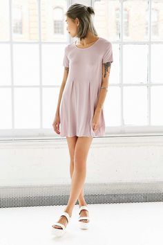 Silence + Noise Riley Trapeze Dress - Urban Outfitters