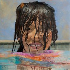 cool clear water Surface, Portraits, Gray, Cool Stuff, Water, Anime, Painting, Gripe Water, Head Shots