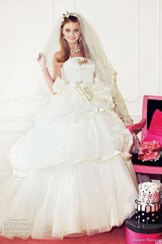 Barbieの世界観を表現した「Barbie BRIDAL」の可愛すぎる純白ドレスcollection♡にて紹介している画像