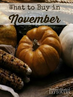 What to Buy in November: A list of items that will be on sale or clearance in November. Use this list to plan your shopping strategy & stretch your budget.