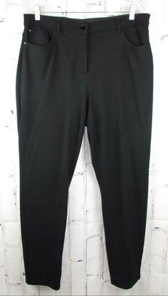 45693760feace Chicos womens So Slimming Peyton Pants 2.5 L 14 Black Tummy Control Ponte  31