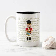 Gold Christmas Little Drummer Boy Two-Tone Coffee Mug - decor gifts diy home & living cyo giftidea