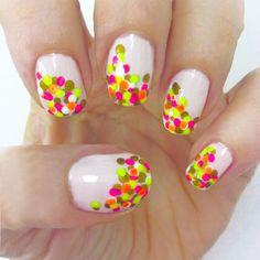 Neon confetti nails do my nails like this Kelsey! Neon Nail Art, Neon Nails, Easy Nail Art, Diy Nails, Cute Summer Nails, Cute Nails, Pretty Nails, Fancy Nails, Neon Nail Designs