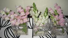 Pink and stripes centerpiece