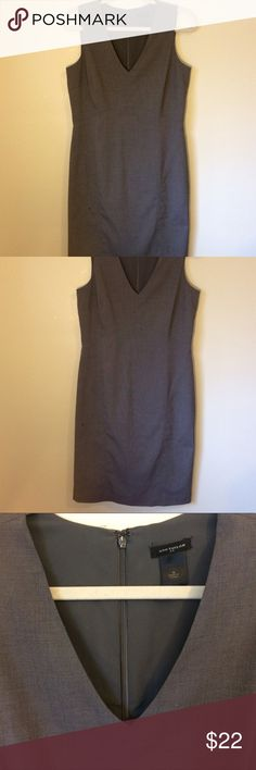 Ann Taylor sleeveless tailored shift. Ann Taylor sleeveless tailored shift. Lined inside. Study material, flattering cut but not too tight. Well made, EUC. Worn once. Tiny thread loose by zipper. Ann Taylor Dresses