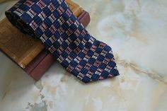 Men's True Vintage Pure Silk Retro Patterned Neck Tie - pinned by pin4etsy.com