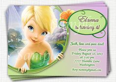 Tinkerbell Invitation  Printable File by PaperTinker on Etsy, $5.50