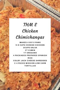 THM Chicken Chimichangas for the freezer - One More Little Thing