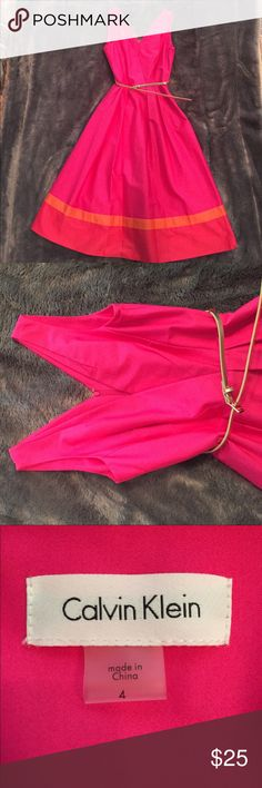 Calvin Klein brand new pink summer dress Calvin Klein brand new pink summer dress. New with tags! Never been worn. Calvin Klein Dresses Midi