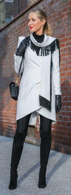 New York fashion week blogger street style before BCBG #nyfw