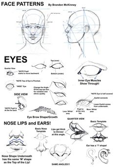 Some Basic Tutorials for Drawings of Humans | #how-to #tuts #draw #sketch #sketching #instruction #tutorial #tutorials #face #faces #eyes #arms #hands #female #male #anatomy #nose #lips #shading | ✅