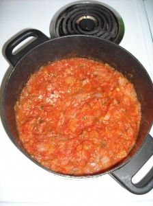Spaghetti Sauce from fresh tomatoes