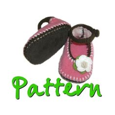 PATTERN  Baby Mary Jane Felted Sweater shoes with by CoffeeLady, $3.95