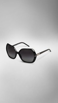 Oversize Faceted Frame Sunglasses | Burberry