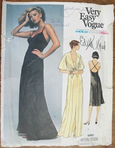 Vintage 1970s Vogue Evening Dress Edith Head by strangenotions