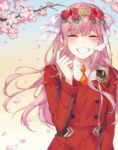 Zero two -darling in the franxx art.so cute. Kawaii Anime Girl, Anime Art Girl, Anime Fan Art, Demon Manga, Querida No Franxx, Anime Zero, Image Manga, Zero Two, Ecchi