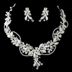 Affordable Elegance Bridal - Crystal Rhinestone and Diamond White Bead Wedding Jewelry Set, $94.99 (http://www.affordableelegancebridal.com/crystal-rhinestone-and-diamond-white-bead-wedding-jewelry-set/)