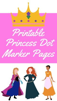 Free, printable Princess Dot Marker Pages are perfect for your little one that loves princesses and to use as a birthday party activity! Printable Activities For Kids, Toddler Learning Activities, Fun Learning, Fun Activities, Free Printables, Princess Activities, Princess Crafts, Easy Crafts For Kids, Diy For Kids