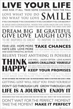 Plakat Live your life