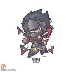 494 - Blackwatch Genji, Jr Pencil on ArtStation at https://www.artstation.com/artwork/65E0V