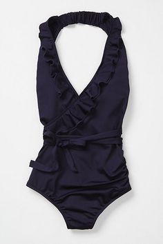 ruffled swimsuit