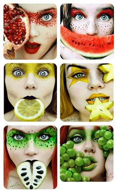 Christina Otero's Fruit Makeup