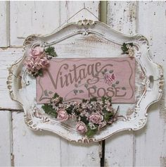 Serving tray wall hanging shabby cottage chic painted 'vintage rose' plaque roses millinery flower embellished sign decor anita spero design - Ornate platter hand painted sign wall hanging by AnitaSperoDesign - Cottage Shabby Chic, Cocina Shabby Chic, Shabby Chic Mode, Shabby Chic Crafts, Shabby Chic Living Room, Shabby Chic Kitchen, Shabby Chic Style, Shabby Chic Furniture, Shabby Chic Decor