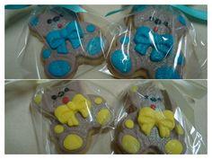 Lembrancinha de Biscoito Amanteigado Decorado em Formato de Ursinho - Party Favor Butter Cookies - www.docemeldoces.com