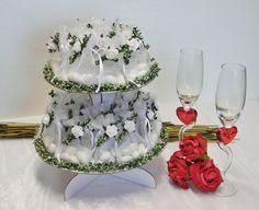 Gastgeschenke - Gastgeschenke Hochzeitstorte 35 Organzasäckchen - ein…