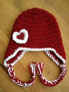 Crochet VALENTINE'S DAY beanie by nichole