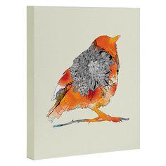 Iveta Abolina Orange Bird Art Canvas   DENY Designs Home Accessories