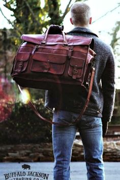 Amazing collection of rugged men's leather and canvas bags. Impressive quality and attention to detail. soft coolers | messenger bags | duffle bags | travel bags | camera bags | laptop bags | briefcase bags Bags Travel, Mens Travel Bag, Duffle Bag Travel, Duffle Bags, Tote Bags, Fashion Mode, Fashion Bags, Mens Fashion, Old School Style