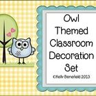 This TpT seller has lots of owl themed things.