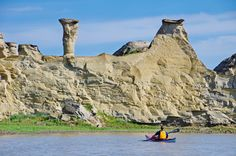 It's hoodoo country as you head towards Writing-on-Stone Provincial Park, Alberta