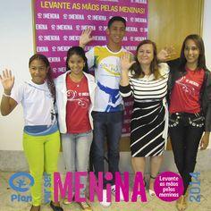 Alexânia, Isabela, Danilo, Célia Bonilha e Halana #PorSerMenina
