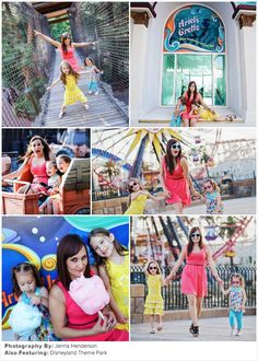Family Picture Ideas: Colorfully Chic at Disneyland | Child Photography | Fashion | Clothing Inspiration | What To Wear For A Photo Session | Pose Idea | Prop Ideas | Summer | Siblings | Fun | Amusement Park | Disney