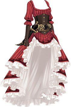 girl dress pirate 衣装 long sleeve
