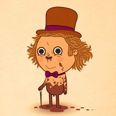 Willy Wonka by Mike Mitchell Great Sci Fi Movies, Mike Mitchell, Poster Prints, Art Prints, Posters, 80 Cartoons, Willy Wonka, Disney And More, Heart Art