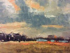 M. Allison Fine Art: Stylized Contemporary Abstract Landscape in Heavy Oils by Texas Artist M.Allison