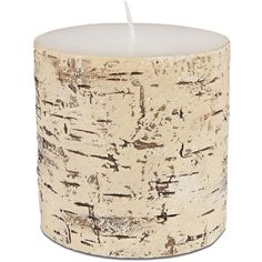 Lord & Taylor Birch Pillar Candle (€10) ❤ liked on Polyvore featuring home, home decor, candles & candleholders, white, white pillar candles, birch pillar candles, birch home decor, lord & taylor and white home decor