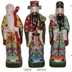Chinese antique FULUSHOU status