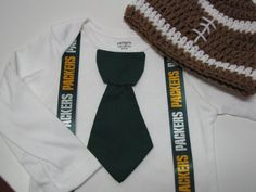 GREEN BAY PACKERS inspired football outfit for by DiapersNthings1