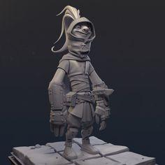 Ninja Sloth (Wip), Hans Kristian Andersen on ArtStation at https://www.artstation.com/artwork/EQBm2